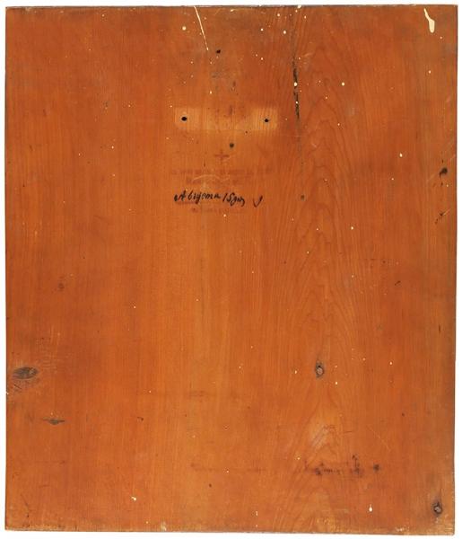 Икона «Свв. Парфений, Иосаф иАфиноген». Россия. Начало ХХвека. Дерево, масло, золочение. Размер35,5×30,5см.