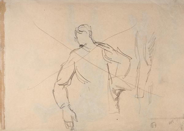 Кустодиев Борис Михайлович (1878–1927) Наброски. 1900-е— 1910-е. Бумага, графитный карандаш, 19×26,7см.