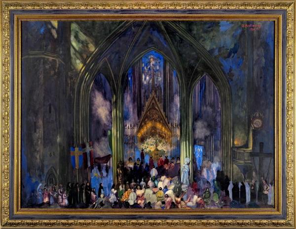 Худяков Андрей Тимофеевич (1896–1985) «Чудо». 1924. Картон, гуашь, акварель, 73×99см.