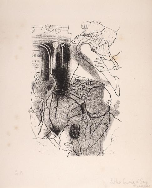 Анненков Юрий Павлович (1889–1974) «Вмечтах оженщине». Иллюстрация ккниге Люка Дюртена «Преступление вСан-Франциско» («Crime aSan Francisco» deLuс Durtain). 1927. Бумага, литография, 21×17см.