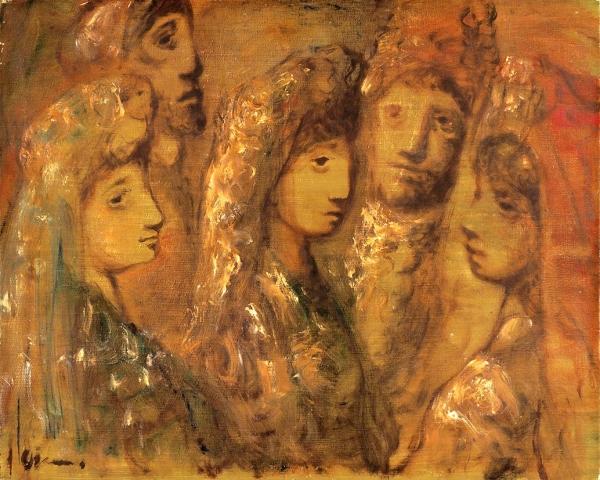 Виньи Сильван (Sylvain Vigny) (1903–1970) «Испанки». Середина ХХвека. Холст, масло, 65×81см.