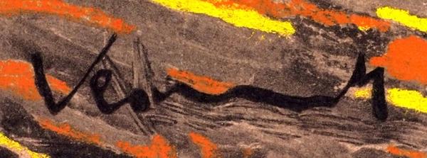 Морис деВламинк (Maurice deVlaminck) (1876–1958) «Натюрморт сбутылкой виски». 1951. Бумага, цветная автолитография.