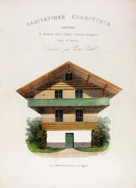 Конволют. Три книги литографий Виктора Петита: Сельские жилища. Парки исады.