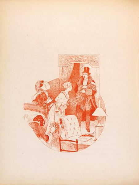 [СавтографомГи деМопассана ииздателя, экземпляр №45] Мопассан, Ги, де. Лунный свет/ ил. Арко, Буте деМонвель, Гамбарда, Грассе идр. [Clair deLune. Наяр.яз.] Париж, 1884.
