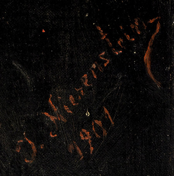 Nierenstein J. «Портрет еврея». 1901. Холст накартоне, масло, 50x32см.