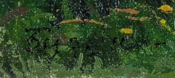 Касаткин Николай Алексеевич (1859-1930) «Подлесок. Бузина». 1910-е. Холст накартоне, масло, 11x14,7см.