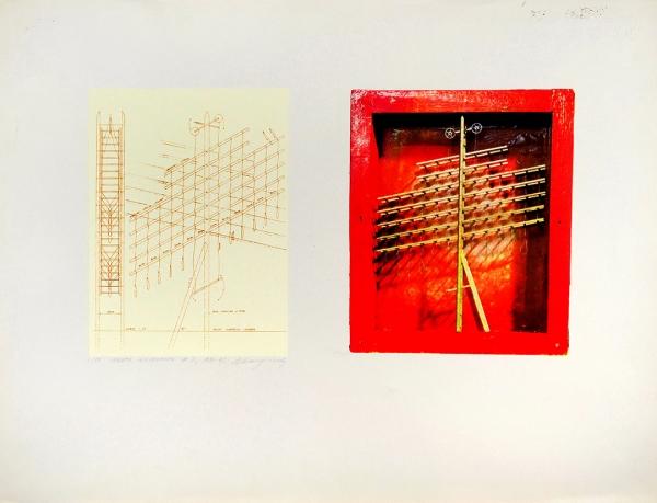Аввакумов Юрий. Лестницы. №2. 1991-1993. Цветная шелкография. 74x57см. Экземпляр №2из36с подписью художника.