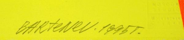 Бартенев Андрей. Африканский таракан.1995. Бумага, цветная шелкография, 53,5x38,2см. Экземпляр №13из30с подписью художника иштампом Творческой мастерской шелкографии «Московская студия».