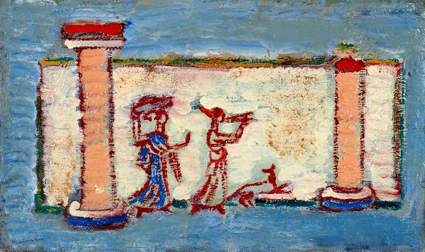 Морев Анатолий. Срынка.2004. Холст, масло. 22x38см. Вдвойной раме размером 45,5x61,5см. Воспроизведена вкаталоге произведений художника.