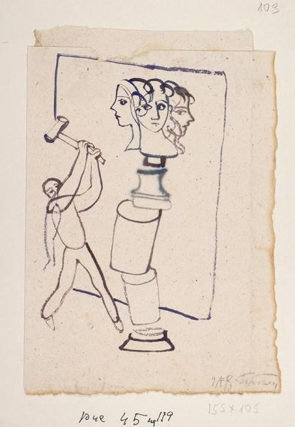 Рисунок: Творец/ худ. ГАВ Траугот. Б.г.