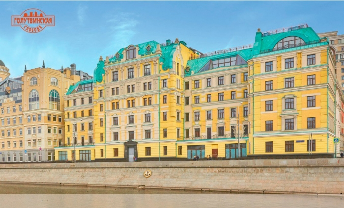 Квартира 351кв. м— Уникальная квартира свидами наМосква-реку. Жилой комплекс «Голутвинская Слобода», Якиманская набережная, 2к1.