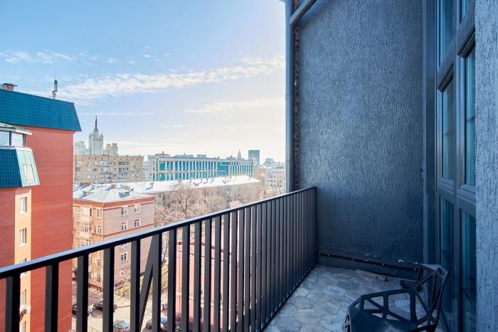 Квартира 130кв. м— Пентхаус сневероятными панорамными видами. Жилой комплекс «Рассвет Loft Studio» , Столярный пер., 3к34.