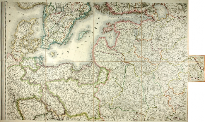 Географическая карта Российской Империи иЕвропы, включая Австрию, Данию, Норвегию, Пруссию. Париж: Tardieu, 1812.