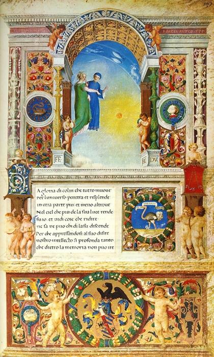 [Факсимиле иллюстрированной рукописи 1480г.] «Урбинский Данте» изБиблиотеки Ватикана. [IlDante Urbinate della Bibilioteca Vaticana. Наит.яз.]. Roma: Bibilioteca Vaticana; Tip. Fabbri (Milano), 1965.