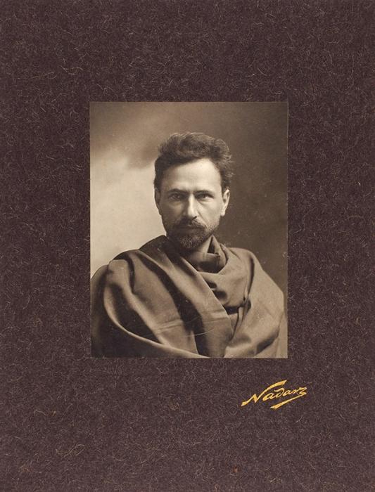 Фотография священника, революционера итайного полицейского агента Георгия Гапона/ фот. Надар. Париж, кон. XIX— нач. ХХв.