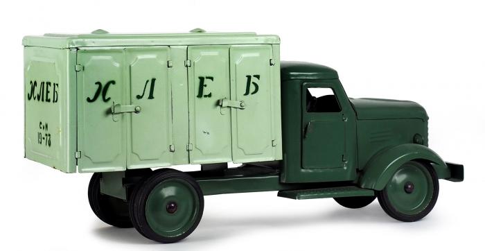 Хлебный фургон набазе ЗИС-150. Модель-игрушка. СССР, 1973.