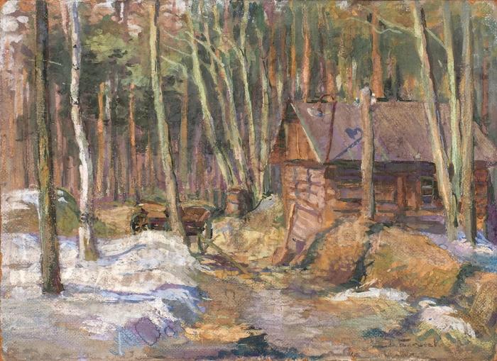 Бакшеев Василий Николаевич (1862–1958) «Весна». Конец XIX— началоХХ века. Оргалит, темпера, 34,5x47см.