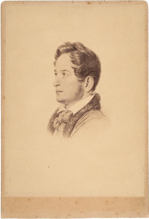 Репродукционная фотография А.И. Герцена сживописного портрета. [1880-е гг.].