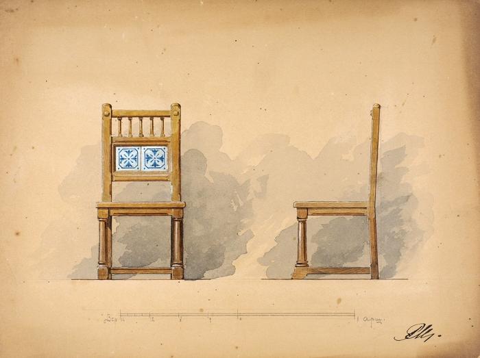 Мельцер Р.Ф. иМельцер Ф.Ф. Шесть рисунков роскошной мебели для фабрики «Ф.Мельцер иК°». [СПб., 1890-е гг.].