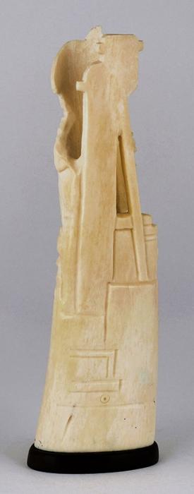 Карандашница «Славься шахтеров племя». СССР, Хотьково. 1950-е. Цевка, эбонит. Размер 20x6x6см.