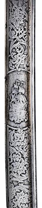 Морская парадная офицерская сабля вножнах образца 1855года. [Б.м., 1855].