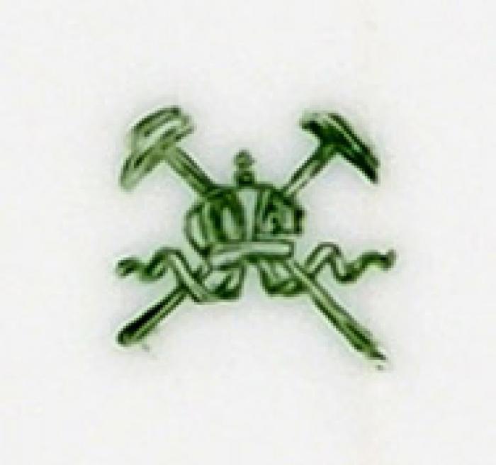 Пара тарелок сгербом рода Нарышкиных. Австрия, Богемия, мануфактура Pirkenhammer. 1893- 1918.